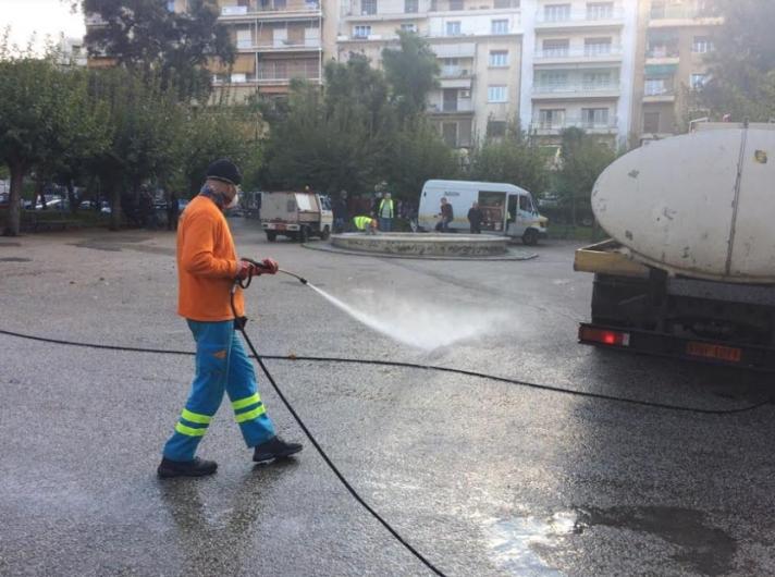 Στην πλατεία Κανάρη στην Κυψέλη δράσεις καθαριότητας και αποκατάστασης από τον Δήμο Αθηναίων