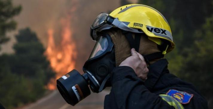 Τραυματίας στην πυρκαγιά στην Εύβοια