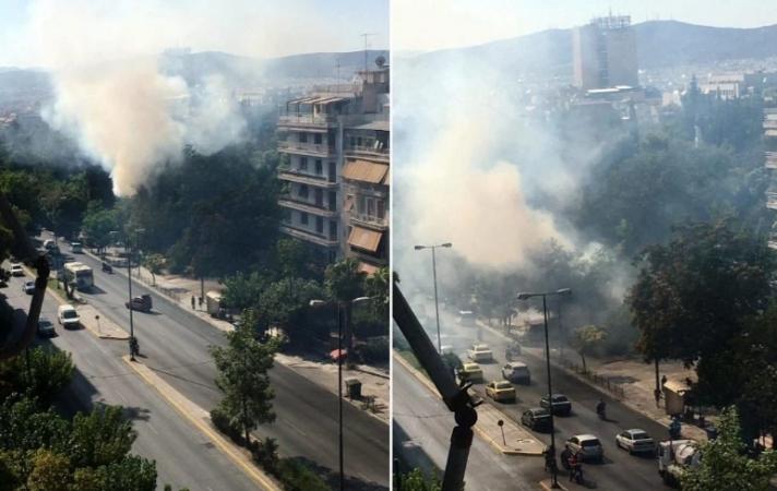 Καίγεται το Πεδίον του Άρεως, στην καρδιά της Αθήνας!