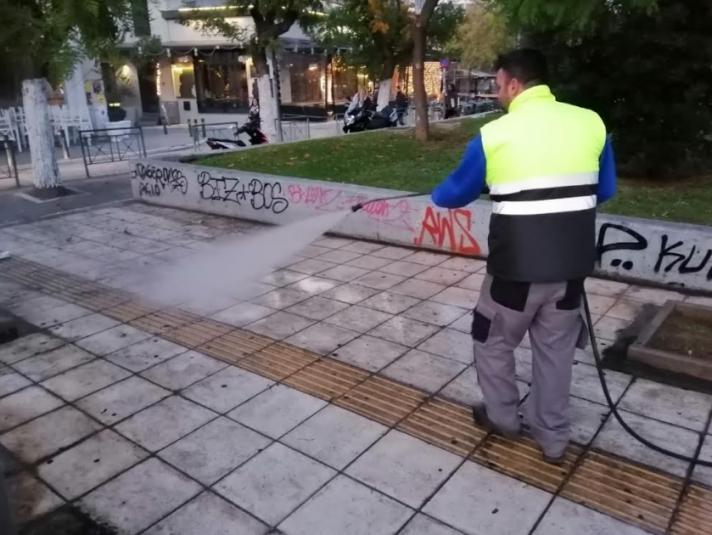 Δράσεις καθαριότητας και αποκατάστασης σε Γκάζι και Παγκράτι από τον Δήμο Αθηναίων