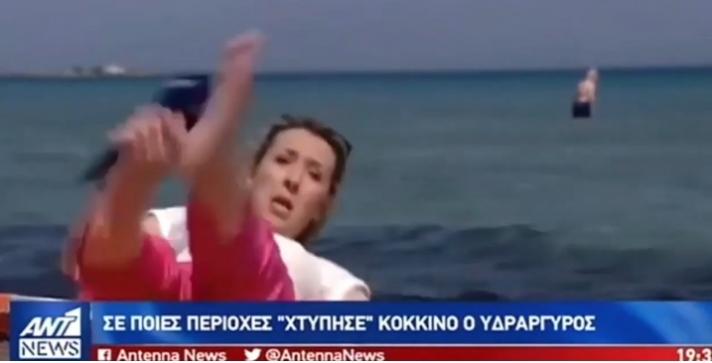 Δημοσιογράφος του ΑΝΤ1 πήγε να πέσει από την ξαπλώστρα on camera [βίντεο]
