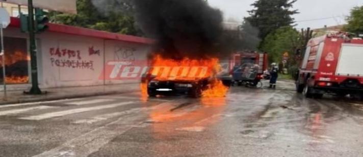 Αυτοκίνητο έγινε παρανάλωμα του πυρός εν κινήσει! Σώθηκαν οι επιβάτες