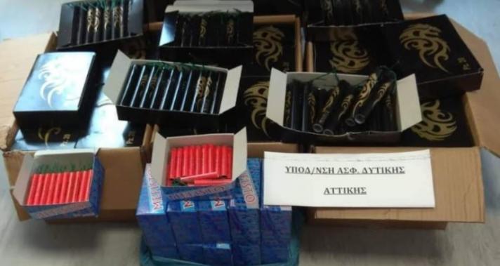 Σύλληψη 25χρονου με κροτίδες στην Ελευσίνα