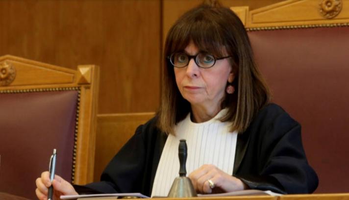 """Αικ. Σακελλαροπούλου: """"Με την πρόταση αυτή τιμάται, στο πρόσωπό μου, τόσο η Δικαιοσύνη όσο και η σύγχρονη Ελληνίδα"""""""