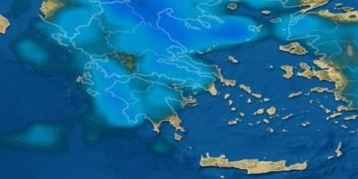 ΧΑΡΤΕΣ ΒΡΟΧΗΣ - Νεφώσεις, βροχές και καταιγίδες στο μεγαλύτερο μέρος της χώρας
