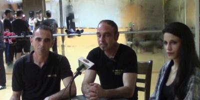 Πρώτη εκπομπή του Πανευρωπαϊκού Πρωταθλήματος  Boxe Savate με τους ομοσπονδιακούς προπονητές Δρίτσα Λυκούργο και Γιώργο .