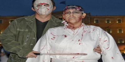 Μεγάλο Zompie thriler party στην Αθήνα Ζόμπι «περικύκλωσαν» τη Βουλή - Γέμισε η πλατεία Συντάγματος