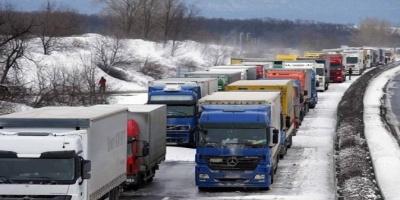 Απαγόρευση κυκλοφορίας σε φορτηγά άνω των 3,5 τόνων στην εθνική οδό Ιωαννίνων - Κακκαβιά λόγω χιονόπτωσης