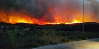 ΒΙΝΤΕΟ - Σε κατάσταση έκτακτης ανάγκης η Χίος - Εκκενώθηκαν χωριά - Κάηκαν δύο σπίτια